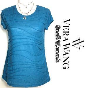 Simply Vera Wang teal blue short sleeve top